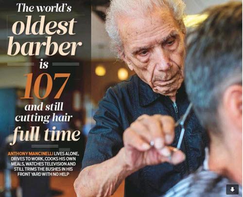 World's Oldest Barber